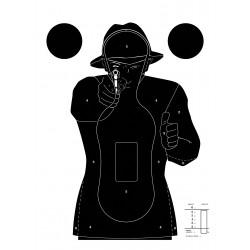 Cible silhouette noire, par 100