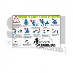 Panneau règles de sécurité 60 x 40 cm | Sport attitude