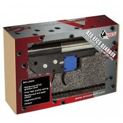 Gearbox complète 1 joule pour réplique airsoft de type M4 / M15 / M16 avec câblage avant | Amoeba