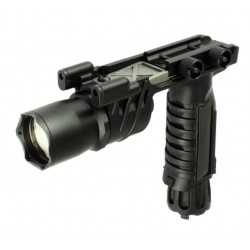 """Lampe tactique à LED """"M910"""" noir avec poignée tactique   S&T Armament"""