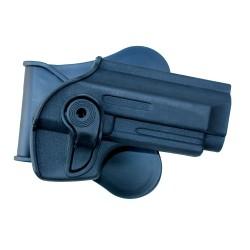 Holster de ceinture rigide noir droitier pour type PT92 | Swiss Arms