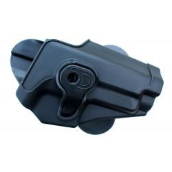 Holster de ceinture rigide noir droitier pour type P226 | Swiss Arms
