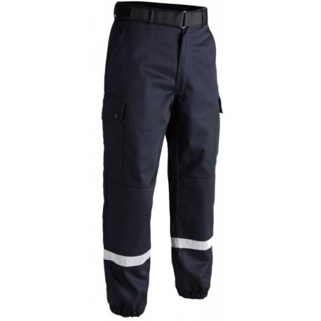 Pantalon F2 avec bandes rétro-réfléchissantes bleu   T.O.E