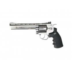 Réplique airsoft Dan wesson 6 pouces chrome CO2 non blow back | ASG