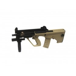 Réplique airsoft Steyr Aug A3 XS commando tan, électrique non blow back | ASG