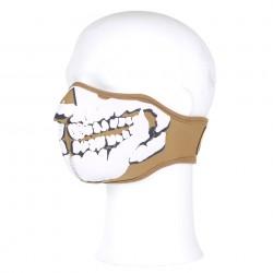 Masque néoprène demi skull 3D tan | 101 Inc