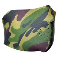 Masque néoprène demi camouflage woodland | DMoniac