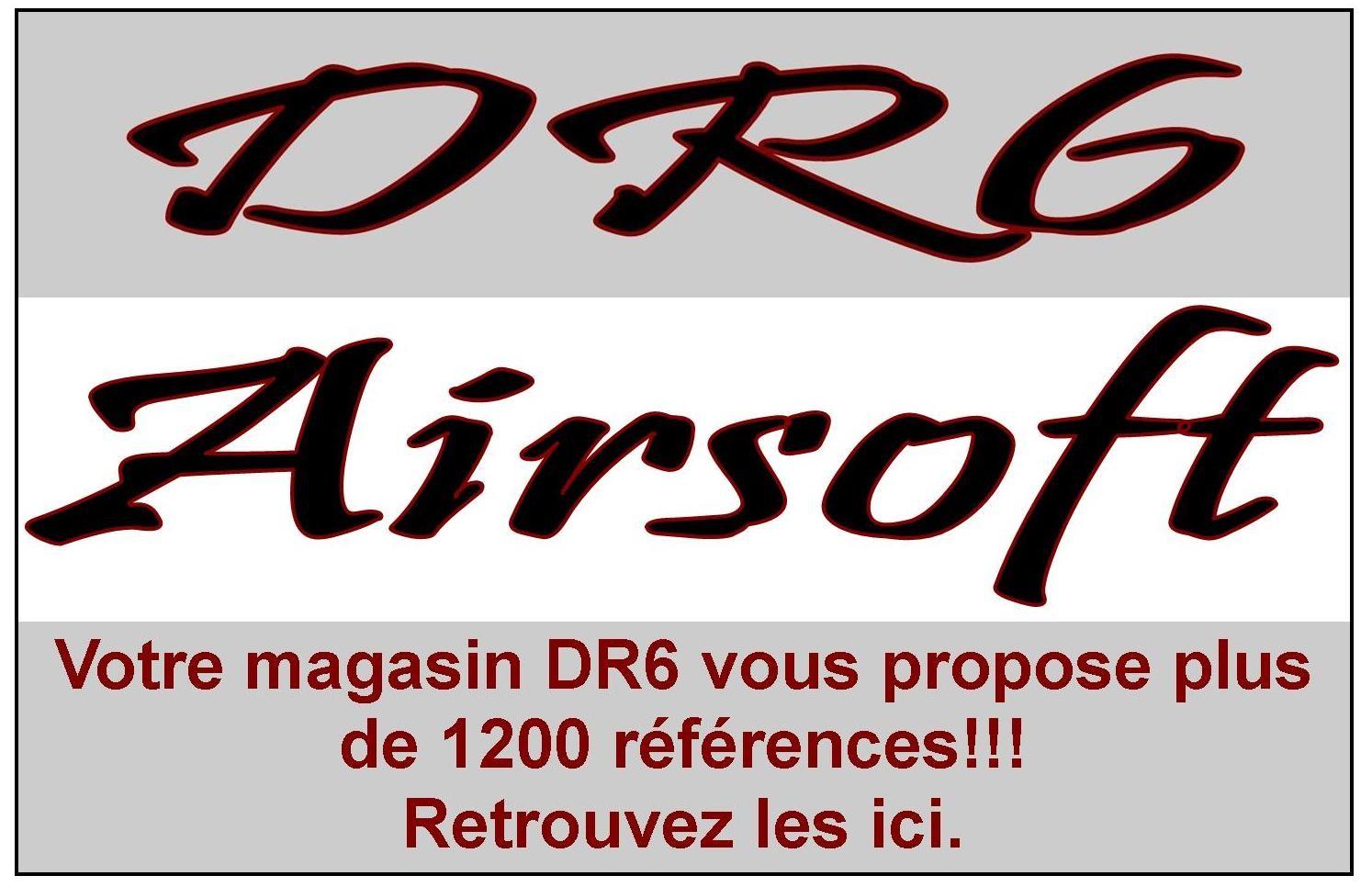 Votre magasin DR6 vous propose plus de 1200 références dans sa gamme airsoft.