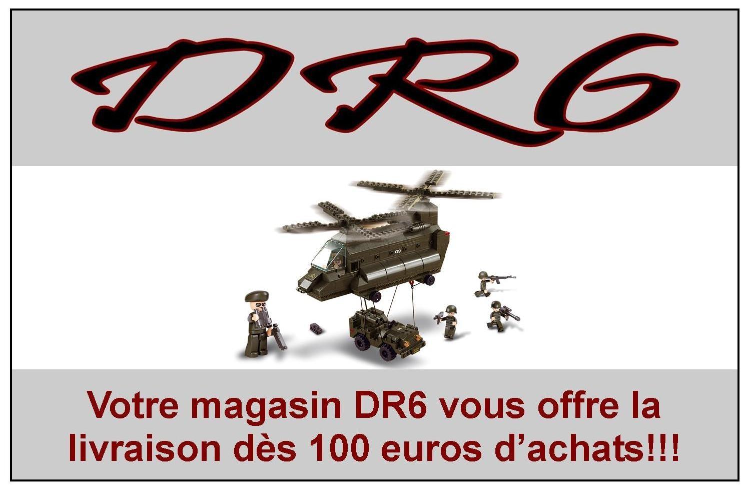 Votre magasin DR6 vous offre la livraison dès 100 euros d'achats.